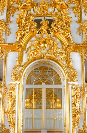 Wall with door in palace