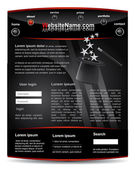 Cool and modern editable vector black web template