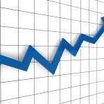 3d, graph, arrow, blue, success, finance, diagram...