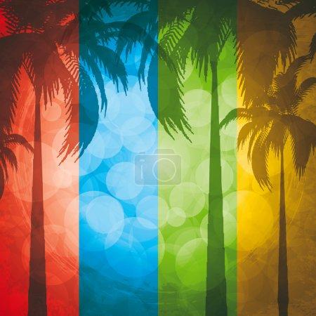 Grunge summer holiday background.Tropical banner...