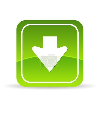 Photo pour Verte haute résolution Télécharger icon sur fond blanc. - image libre de droit