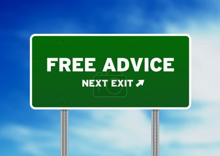 Photo pour Graphique de haute résolution d'une autoroute de conseils gratuits signer sur fond de nuages. - image libre de droit