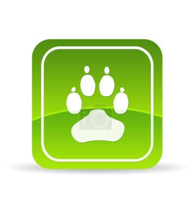 Green Animal Paw Icon