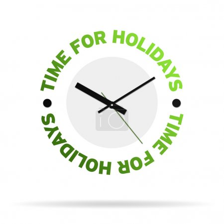 Time For Holidays Clock