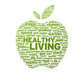 Healthy Living Apple Illustration