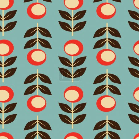 Illustration for Seamless floral background. Retro style, - Royalty Free Image