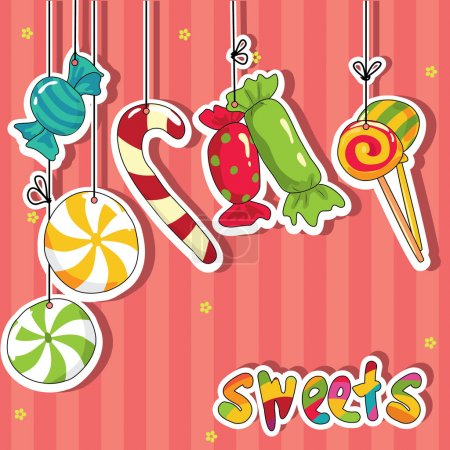 Sweets on strings