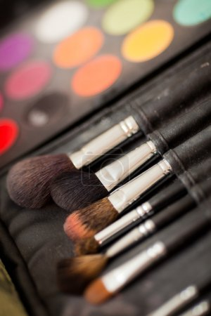 Cosmetic brushes.
