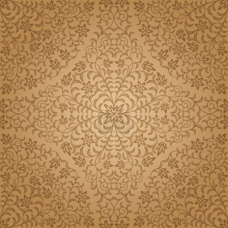 Illustration for Seamless floral pattern. Vector illustration. - Royalty Free Image