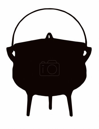 Illustration for African Cooking Pot - Tri (three legged) pot - Royalty Free Image