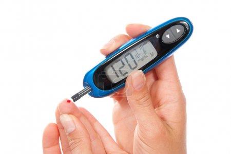 Diabetes measuring glucose level blood test