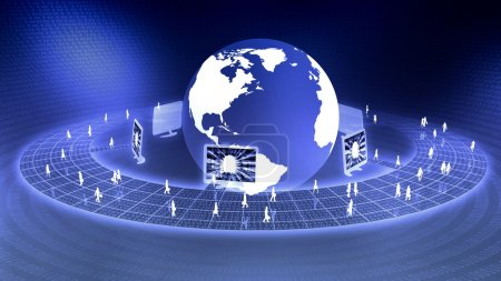 Photo for The concept of virtual internet business business world - Royalty Free Image