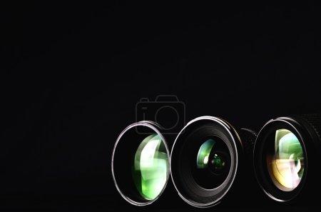 Foto de Cerrar tiros de lentes para cámara de fotografía. gran imagen para el tema de la fotografía conceptual - Imagen libre de derechos