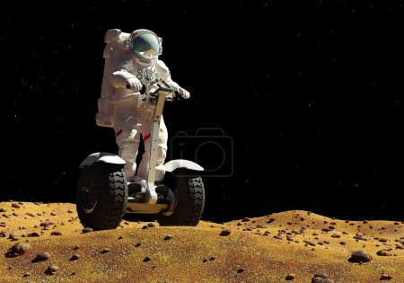 astronaut on the background of the planet