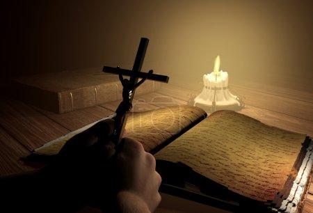 Crucifix in hand