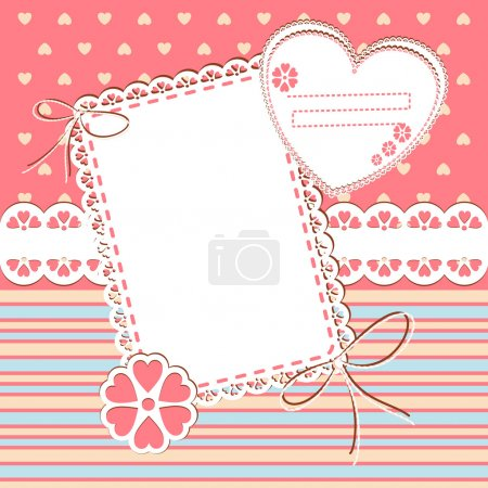 Scrap template with blank space for your photos or text