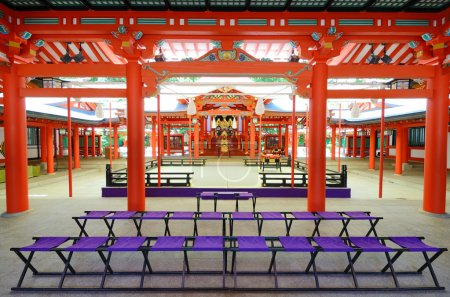 Photo pour Ikuta Jinja est un sanctuaire shintoïste à Kobe, au Japon . - image libre de droit