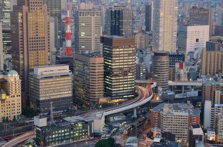Photo pour Bâtiments de grande hauteur à Osaka, deuxième plus grande ville du Japon . - image libre de droit