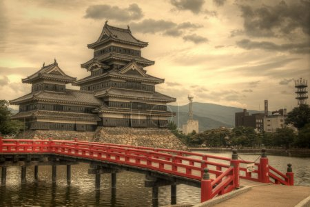 Photo for Entranceway to the historic Matsumoto Castle dating from the 15th Century in Matsumoto, Japan. - Royalty Free Image