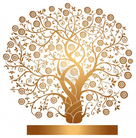 Vector gold tree