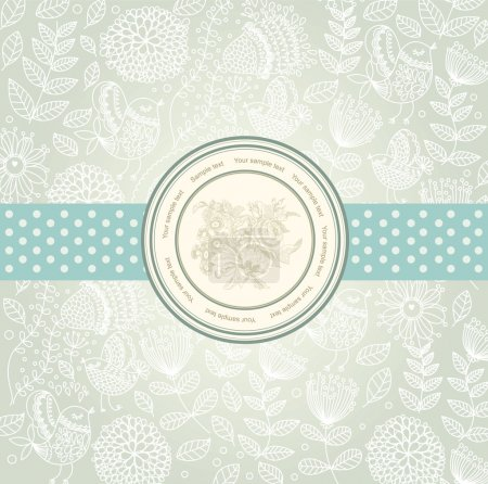 Photo for Vector classical wall-paper with a flower pattern. - Royalty Free Image