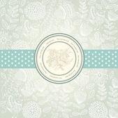 Vector classical wall-paper with a flower pattern