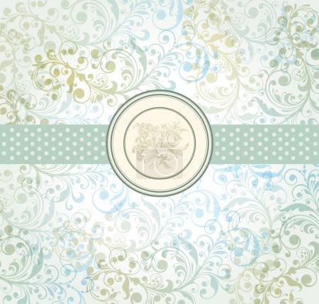 Illustration pour Vecteur classique papier peint avec un motif de fleur. - image libre de droit