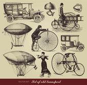 """Постер, картина, фотообои """"Векторный набор старых транспорт"""""""