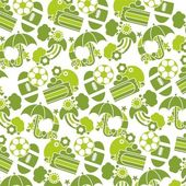 Green vector Children texture