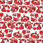 Red vector Children texture