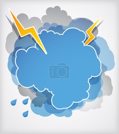 Thundercloud with lightning