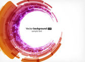Abstract modern background with round shapes and neon lights