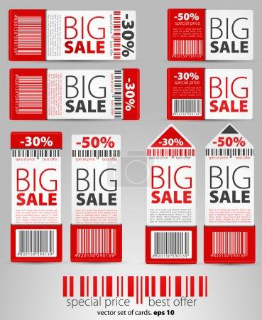 Foto de Conjunto de vectores rojo venta boletos y etiquetas. EPS 10 - Imagen libre de derechos