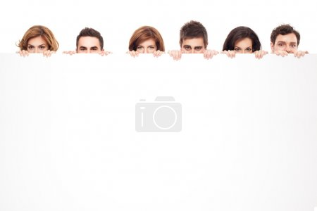 Photo for Big eyes showing behind copy space for advertising - Royalty Free Image