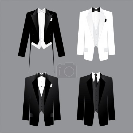 Dress code for men - male costume: tails, tuxedo, ...