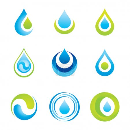 Illustration for Set of icons/symbols - water and ecology - Royalty Free Image