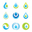 Set of icons/symbols - water and ecology...