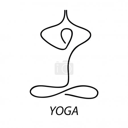 Illustration for Yoga - sign. Symbol - the lotus posture. Meditation. Relax. - Royalty Free Image
