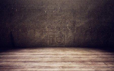Foto de Fondo de habitación viejo ladrillo pared - Imagen libre de derechos