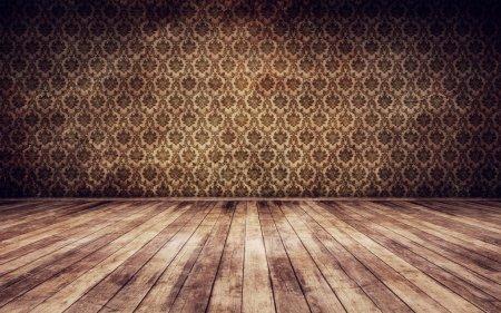 Foto de Grunge vintage fondo interior render 3d - Imagen libre de derechos