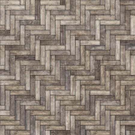 Photo for Old worn classic parquet texture - Royalty Free Image