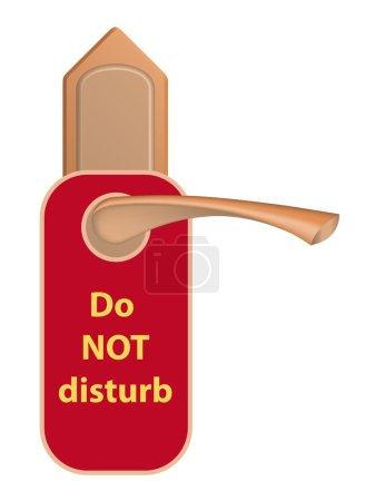 Door handle with a tag.