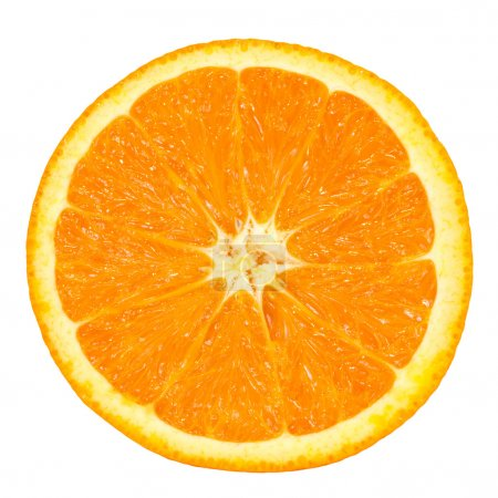 Photo for Slice of orange over white background with clipping path - Royalty Free Image