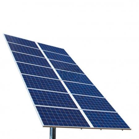 Foto de Paneles solares aislados en blanco - Imagen libre de derechos