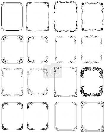 Illustration for Conceptual Stylish Decor Design Creative Floral Frame Set - Royalty Free Image