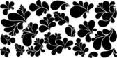 Black Paisley Design Bubbles Vector Shapes