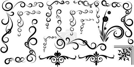 Spiral Design Funky Floral Corner Set