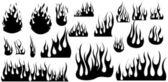 Vignette Fire Flame Illustrations