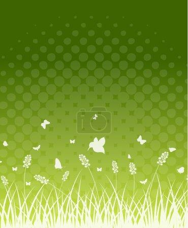 Halftone Nature Grass Line