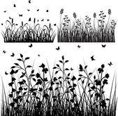 Flourish Grass Silhouettes Designs